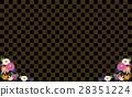 矢量 打鉤 棋盤狀圖案 28351224