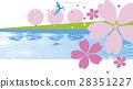 벚꽃과 강 배경 28351227