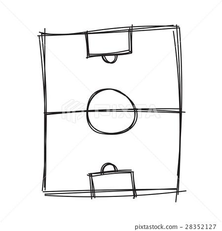 Hand draw soccer field - Stock Illustration [28352127] - PIXTA