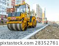 road, construction, roller 28352761