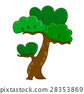 Bonsai tree isolated illustration 28353869