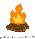 campfire isolated illustration 28353879