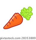 Carrot isolated illustration 28353889