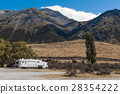 Home trailer at Lake Pearson, New Zealand 28354222