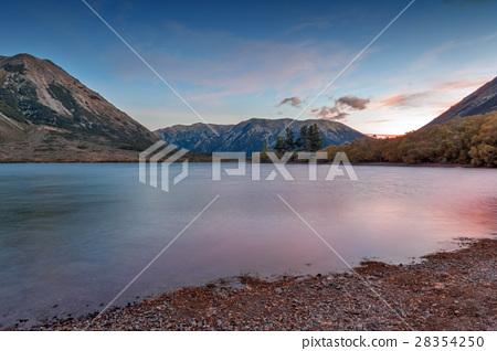 Sunset at Lake Pearson, New Zealand 28354250