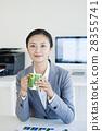 사무실 및 스마트 폰 28355741