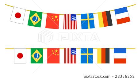 體育賽事文化節國際七國萬旗 28356555