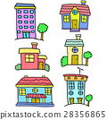 House set colorful of doodles 28356865