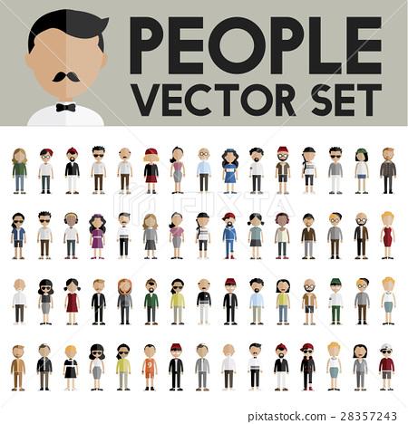 Diversity Community People Flat Design Icons Concept 28357243