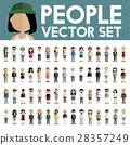 Diversity Community People Flat Design Icons Concept 28357249