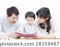 젊은 가족 가족 사진 세 사람 이야기 28359467