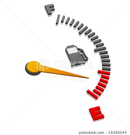 Empty Gas Gauge 28360044