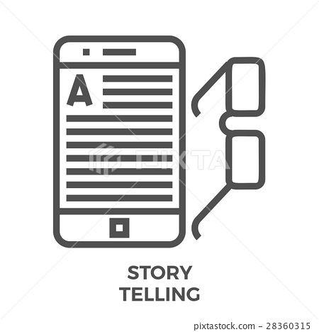 Story telling line icon 28360315