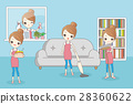 cartoon housewife do work 28360622