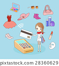 cartoon woman shopping 28360629