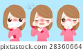 cartoon girl get cold 28360664