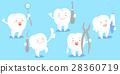 卡通 牙齿 工具 28360719