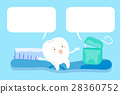 cartoon tooth with speech bubble 28360752