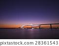 东京京门大桥 桁架桥 晚景 28361543