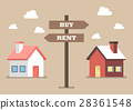Property buy and rent signs 28361548