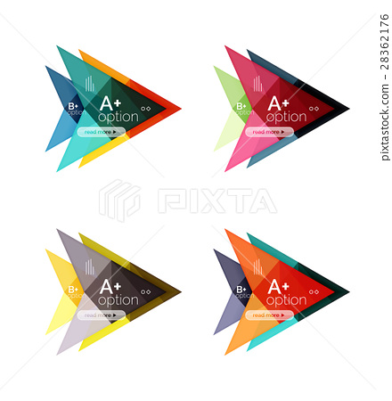 Colorful arrow option infographics banners 28362176