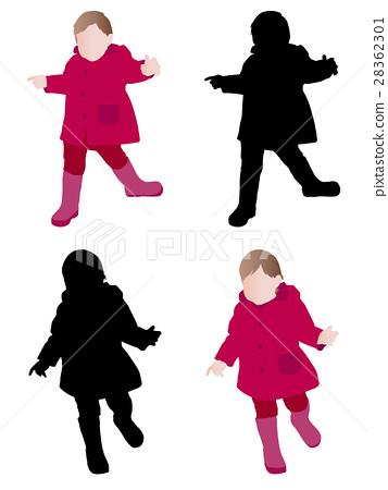 toddler wearing raincoat 28362301