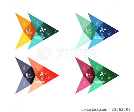 Colorful arrow option infographics banners 28362302