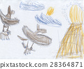Children's drawing - dragons are prey to the lair 28364871