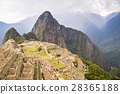 Dark clouds over Machu Picchu Inca city 28365188