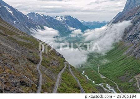 Trollstigen - scenic mountain road in Norway. 28365194