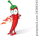 .mexican chili cartoon isolated 28366342