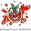 happy pizza cartoon 28366356