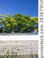 nijo castle, stone wall, white wall 28367950