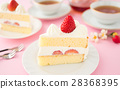 shortcake, strawberry shortcake, strawberries 28368395