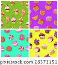 Set of Seamless Patterns with Confectionaries 28371151