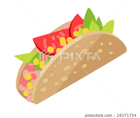 Mexican Hotdog Isolated on White. Sonoran Hot Dog. 28371754