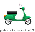 Transport. Illustration of Isolated Green Scooter 28372070