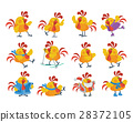 rooster, cartoon, vector 28372105