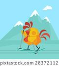 rooster cartoon vector 28372112