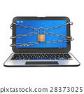 computer, security, lock 28373025