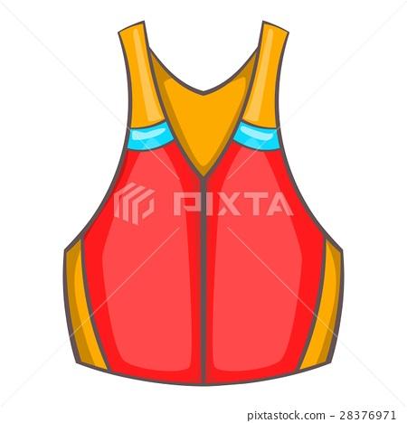 Life vest icon, cartoon style 28376971