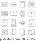 books, icon, vector 28377352