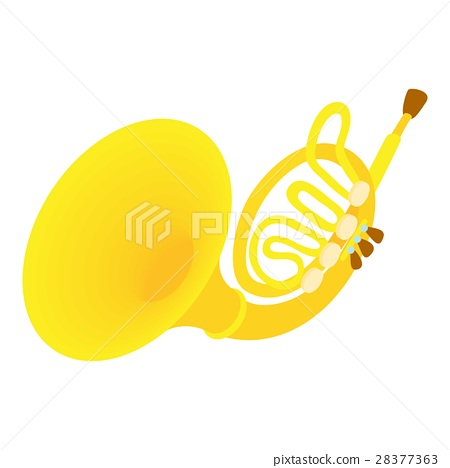 Brass pipe icon, cartoon style 28377363