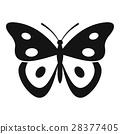 벡터, 아이콘, 나비 28377405
