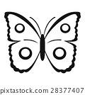 벡터, 아이콘, 나비 28377407