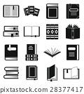 books, icon, vector 28377417