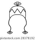 Winter hat icon, outline style 28378192