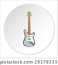Electric guitar icon, cartoon style 28378333