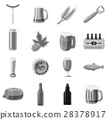 beer, icons, monochrome 28378917