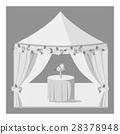 Wedding marquee icon, gray monochrome style 28378948
